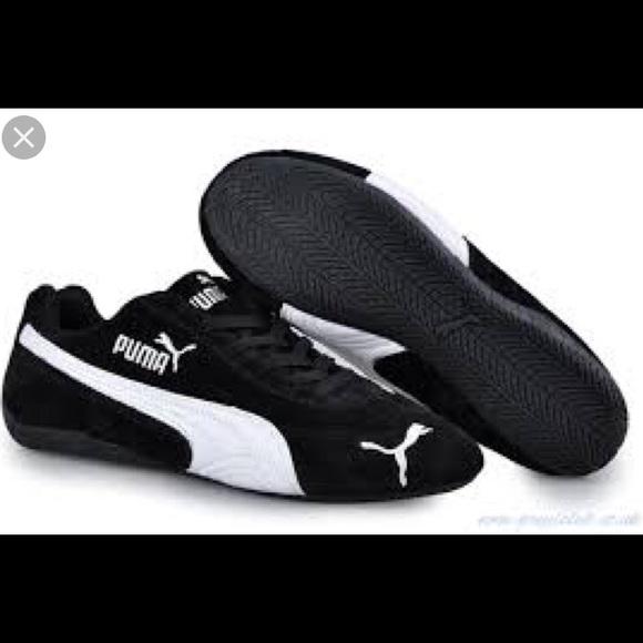 watch 541a6 d451e Puma Speed Cat Black Suede Sneakers NWT